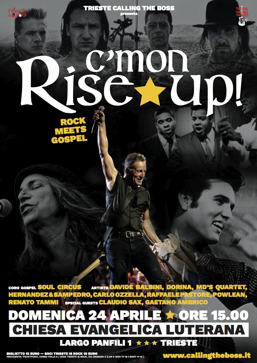 """""""C'MON RISE UP"""" – Rock meets Gospel –"""