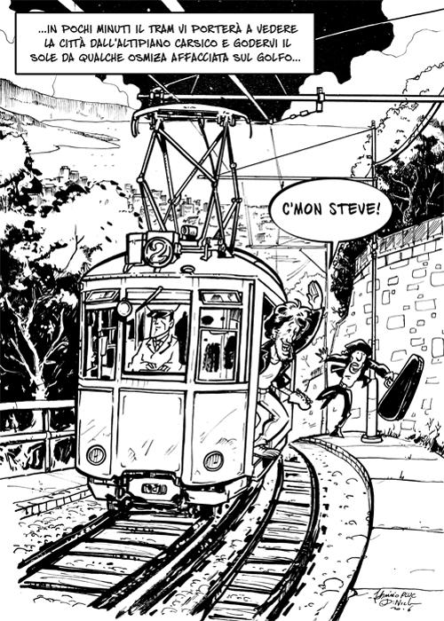 Bruce a Trieste: un giro sul Tram per scoprire l'altipiano e le osmize!