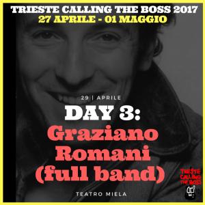 I protagonisti 2017: Graziano Romani (full band)